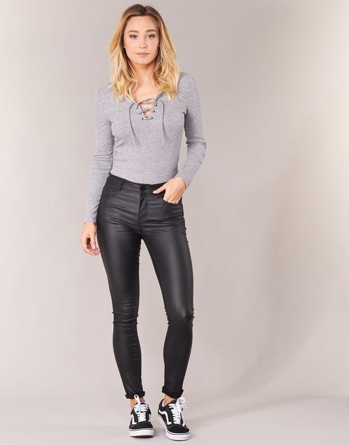 tekstylia Damskie Spodnie z pięcioma kieszeniami Vila VICOMMIT Czarny