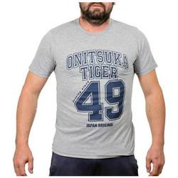 tekstylia Męskie T-shirty z krótkim rękawem Onitsuka Tiger  Szary