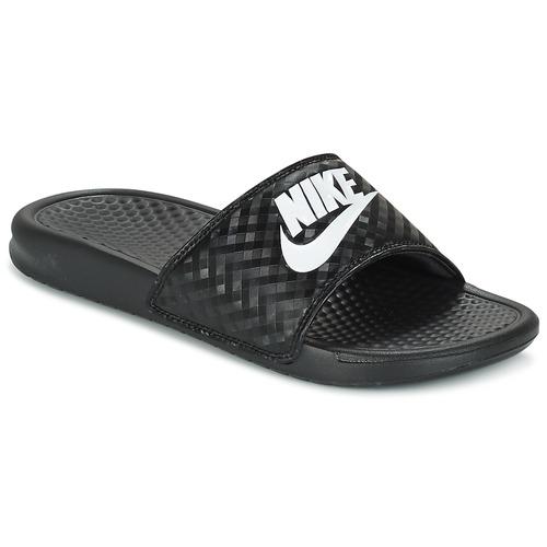 Buty Damskie klapki Nike BENASSI JUST DO IT W Czarny / Biały