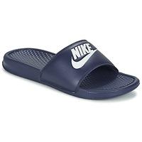 Buty Męskie klapki Nike BENASSI JDI Niebieski / Biały