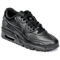 Buty Dziecko Trampki niskie Nike AIR MAX 90 LEATHER GRADE SCHOOL Czarny