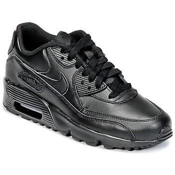 Buty Chłopiec Trampki niskie Nike AIR MAX 90 LEATHER GRADE SCHOOL Czarny
