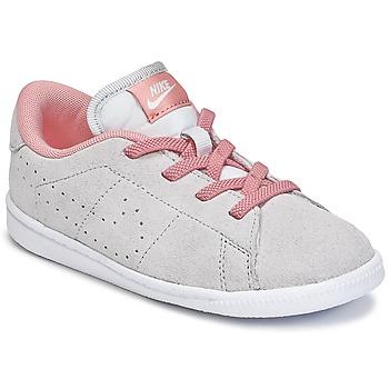 Buty Dziewczynka Trampki niskie Nike TENNIS CLASSIC PREMIUM TODDLER Szary / Różowy