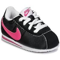 Buty Dziewczynka Trampki niskie Nike CORTEZ NYLON TODDLER Czarny / Różowy