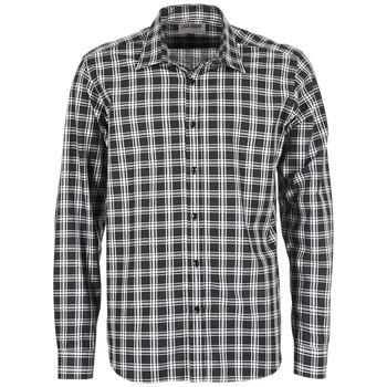 tekstylia Męskie Koszule z długim rękawem Yurban FLENOTE Czarny / Biały