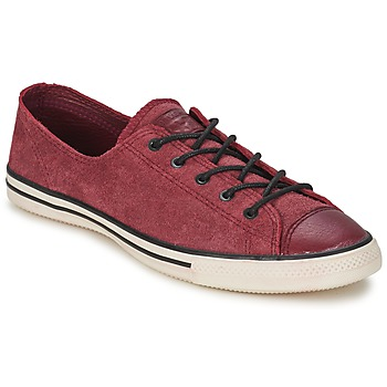 Buty Damskie Trampki niskie Converse Chuck Taylor All Star FANCY LEATHER OX Bordeaux