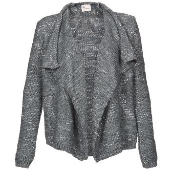 tekstylia Damskie Swetry rozpinane / Kardigany Stella Forest BGI002 Szary
