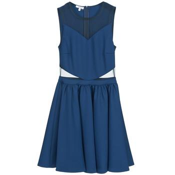 tekstylia Damskie Sukienki krótkie Brigitte Bardot BB45080 Niebieski
