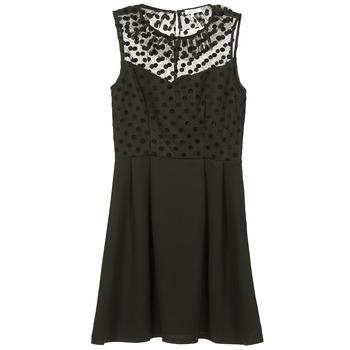 tekstylia Damskie Sukienki krótkie Brigitte Bardot BB45057 Czarny