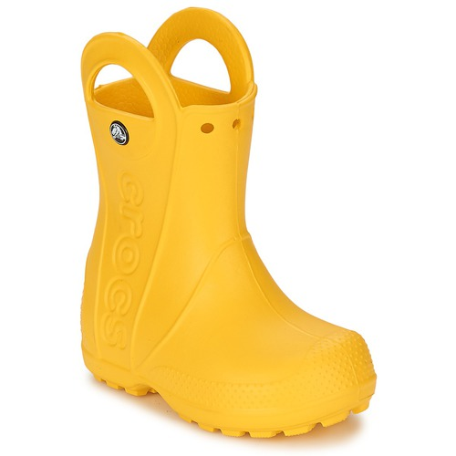 Buty Dziecko Kalosze Crocs HANDLE IT RAIN BOOT KIDS Żółty
