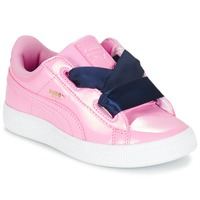 Buty Dziewczynka Trampki niskie Puma BASKET HEART PATENT PS Różowy / Marine