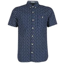 tekstylia Męskie Koszule z krótkim rękawem Tommy Jeans TIDURES Marine