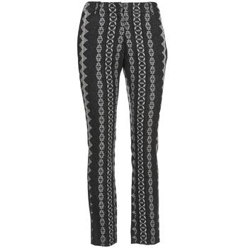 tekstylia Damskie Spodnie z pięcioma kieszeniami Manoush TAILLEUR Szary / Czarny