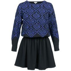 tekstylia Damskie Sukienki krótkie Manoush GIRANDOLINE Czarny / Niebieski