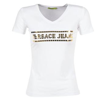 tekstylia Damskie T-shirty z krótkim rękawem Versace Jeans B2HPA7GC Biały