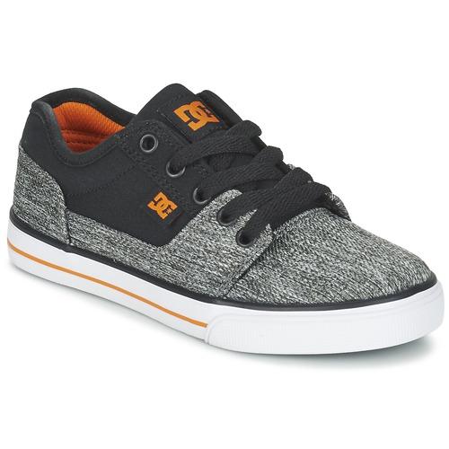 Buty Chłopiec Trampki niskie DC Shoes TONIK TX SE B SHOE BGY Czarny / Szary / Pomarańczowy