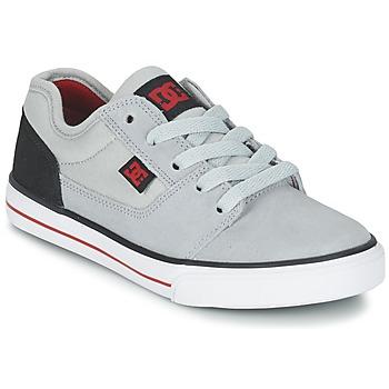 Buty Chłopiec Trampki niskie DC Shoes TONIK B SHOE XSKR Szary / Czarny / Czerwony