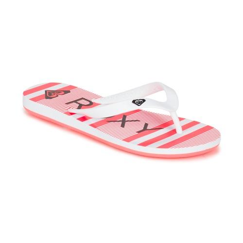 Buty Dziewczynka Japonki Roxy RG TAHITI V G SNDL WBD Biały / Czarny / Różowy