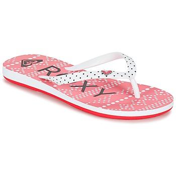 Buty Dziewczynka Japonki Roxy RG PEBBLES V G SNDL BRE Czerwony / Biały / Czarny