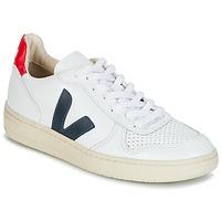 Buty Trampki niskie Veja V-10 Biały / Niebieski / Czerwony