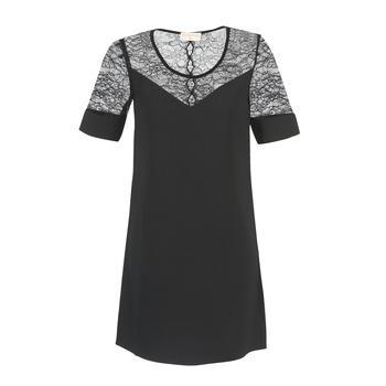 tekstylia Damskie Sukienki krótkie Moony Mood FUFU Czarny
