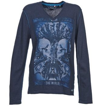 tekstylia Męskie Swetry Le Temps des Cerises BREG Niebieski