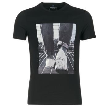 tekstylia Męskie T-shirty z krótkim rękawem Armani jeans JANADORI Czarny