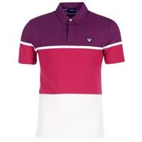 tekstylia Męskie Koszulki polo z krótkim rękawem Armani jeans MARAFOTA Fioletowy / Czerwony / Biały
