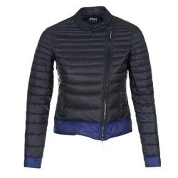 tekstylia Damskie Kurtki pikowane Armani jeans BEAUJADO Czarny / Niebieski