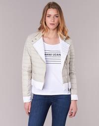 tekstylia Damskie Kurtki pikowane Armani jeans BEAUJADO Beżowy / Biały