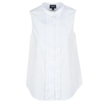 tekstylia Damskie Koszule Armani jeans GIKALO Biały
