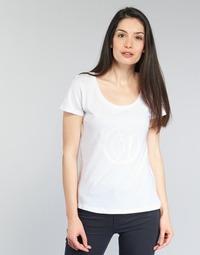 tekstylia Damskie T-shirty z krótkim rękawem Armani jeans LASSERO Biały