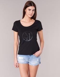 tekstylia Damskie T-shirty z krótkim rękawem Armani jeans LASSERO Czarny