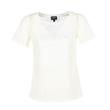 tekstylia Damskie T-shirty z krótkim rękawem Armani jeans KAJOLA Biały