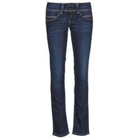 tekstylia Damskie Jeansy straight leg Pepe jeans VENUS Niebieski