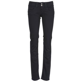 tekstylia Damskie Spodnie z pięcioma kieszeniami Pepe jeans VENUS Czarny