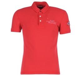 tekstylia Męskie Koszulki polo z krótkim rękawem Napapijri ELBAS Czerwony