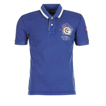 tekstylia Męskie Koszulki polo z krótkim rękawem Napapijri GANDYS Niebieski