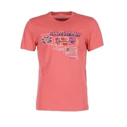 tekstylia Męskie T-shirty z krótkim rękawem Napapijri VINTAGE Koral