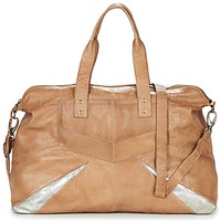 Torby Damskie Torby na ramię Pieces JACE LEATHER TRAVEL BAG COGNAC / Argenté