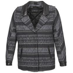 tekstylia Damskie Płaszcze Color Block ALTONA Czarny