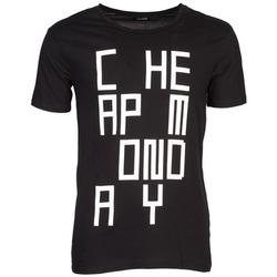 tekstylia Męskie T-shirty z krótkim rękawem Cheap Monday TYLER Czarny