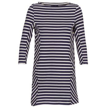 tekstylia Damskie Sukienki krótkie Petit Bateau LESS MARINE / Beżowy