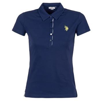 tekstylia Damskie Koszulki polo z krótkim rękawem U.S Polo Assn. LOGO MARINE