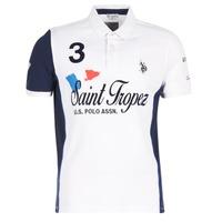 tekstylia Męskie Koszulki polo z krótkim rękawem U.S Polo Assn. SAINT TROPEZ POLO Biały
