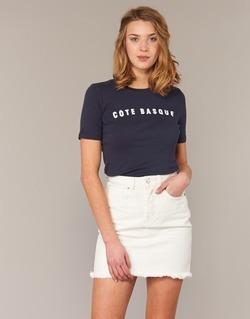 tekstylia Damskie T-shirty z krótkim rękawem Loreak Mendian PAYS BASQUE MARINE
