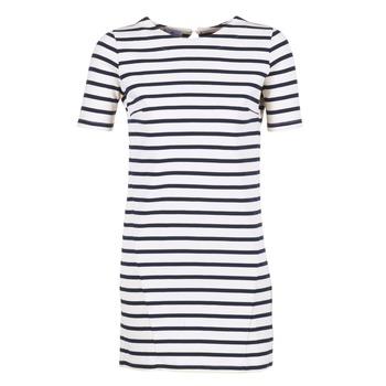 tekstylia Damskie Sukienki krótkie Loreak Mendian HAMABI Marine / Biały