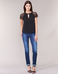 tekstylia Damskie Jeansy straight leg Lee MARION STRAIGHT Niebieski / Medium