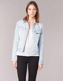 tekstylia Damskie Kurtki jeansowe Lee SLIM RIDER Niebieski / CLAIR