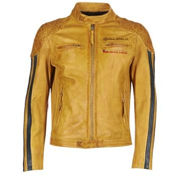 tekstylia Męskie Kurtki skórzane / z imitacji skóry Redskins RIVAS żółty